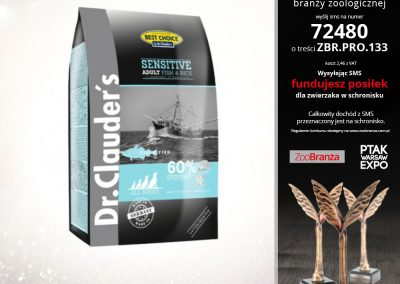 BEST CHOICE SENSITIVE FISH RICE FIRMY DR. CLAUDER'S