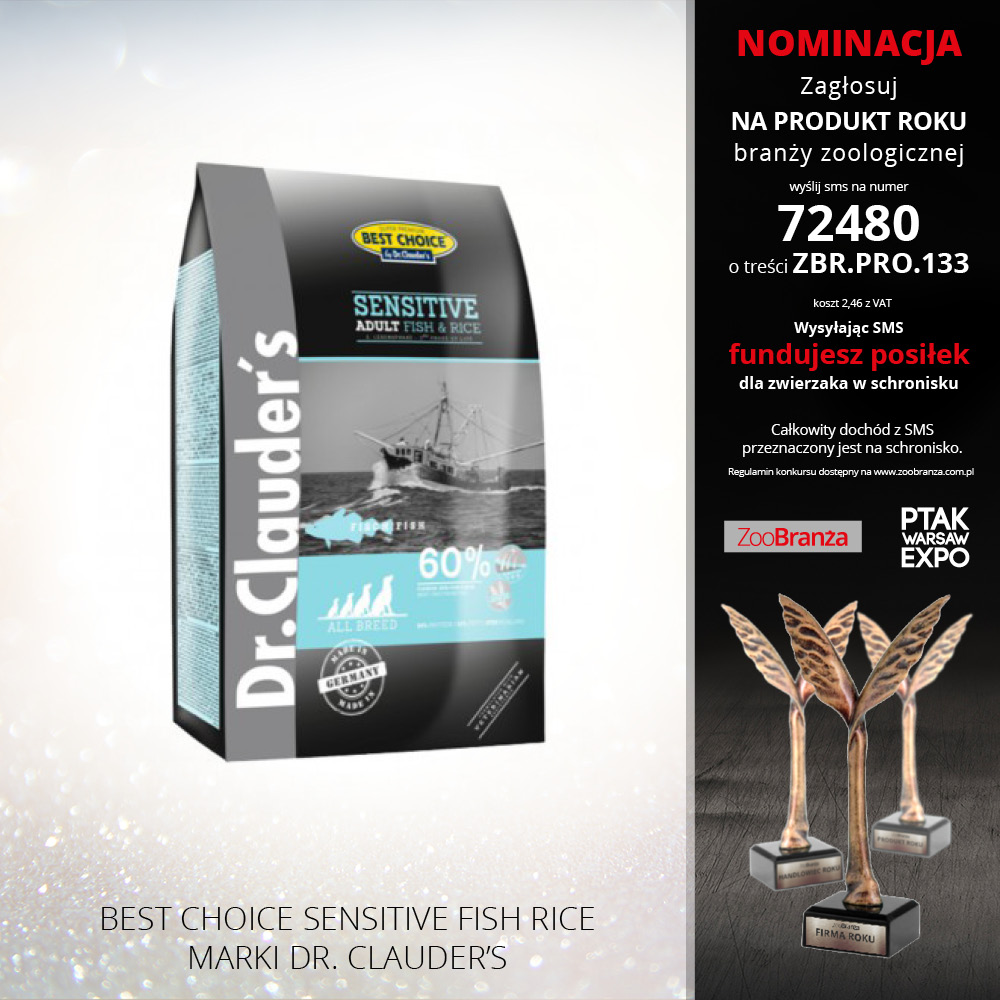 BEST CHOICE SENSITIVE FISH RICE FIRMY DR. CLAUDER'S