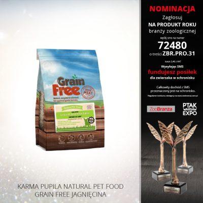 KARMA PUPILA NATURAL PET FOOD GRAIN FREE JAGNIĘCINA