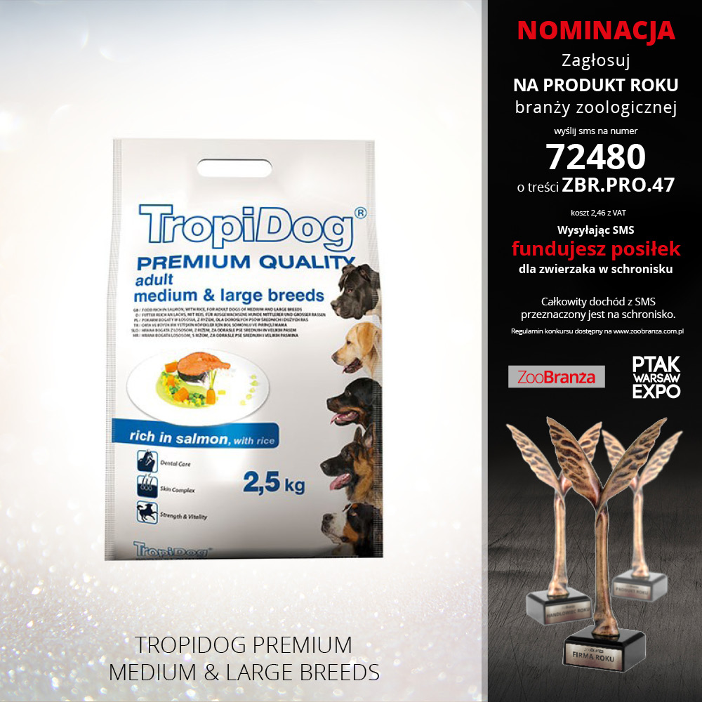 TROPIDOG PREMIUM MEDIUM & LARGE BREEDS